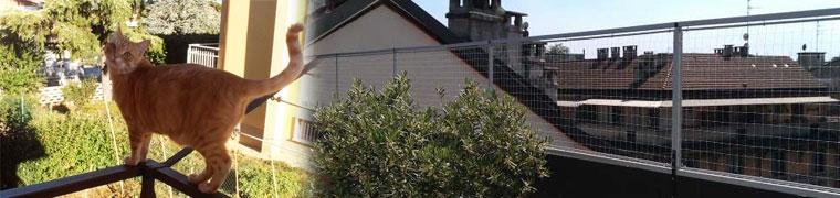 Reti di recinzione reti varie reti per gatti - Rete per gatti giardino ...
